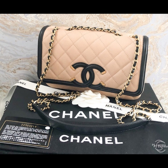bc470dbfe15eaf CHANEL Bags | Caviar Cc Filigree Flap Leather Bag | Poshmark